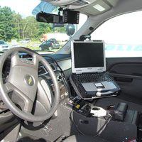 Interior of Patrol Car