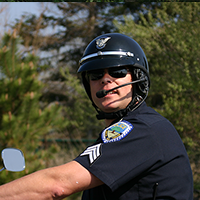 Chief Pless (pictured as Sgt. Pless) - Motorcycle Patrol