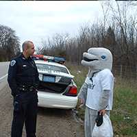 Sgt. Kramer - Roadside Interview of a Dolphin